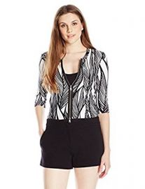 Tracy Reese Women s Zip Cardigan at Amazon