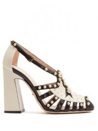 Tracy faux-pearl embellished leather pumps at Matches