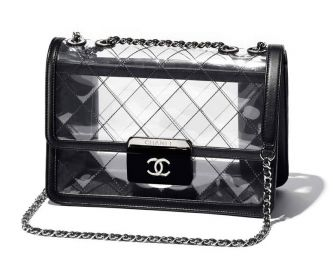 Transparent Flap Bag by Chanel at Chanel
