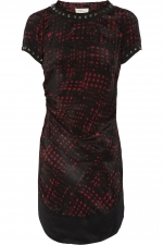 Trash rouge print dress by Isabel Marant at Net A Porter
