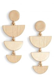 Treasure  amp  Bond Etched Chandelier Earrings at Nordstrom