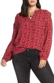 Treasure  amp  Bond Floral Print Woven Shirt  Plus Size    Nordstrom at Nordstrom