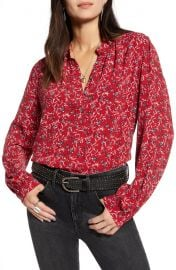 Treasure  amp  Bond Printed Front Button Top   Nordstrom at Nordstrom