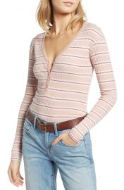 Treasure  amp  Bond Ribbed Henley Top   Nordstrom at Nordstrom