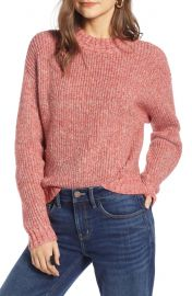 Treasure  amp  Bond Space Dye Shaker Stitch Cotton Blend Sweater at Nordstrom
