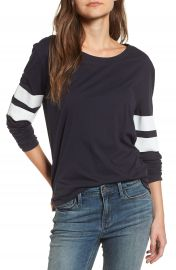 Treasure   Bond Varsity Stripe Cotton Tee at Nordstrom
