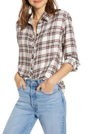 Treasure and Bond Plaid Boyfriend Shirt at Nordstrom