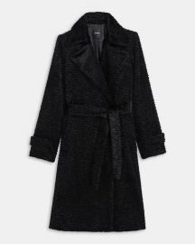 Trench Coat In Faux Astrakhan at Theory