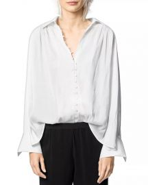 Trent Button-Front Satin Shirt by Zadig  Voltaire at Bloomingdales