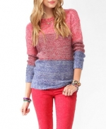 Tri color sweater from Forever 21 at Forever 21
