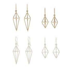Triangle Cage Earrings by Peggy Li at Peggy Li