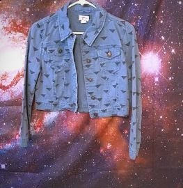 Triangle Print Denim Jacket by Hollister at Hollister