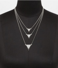 Triangle necklace at Express
