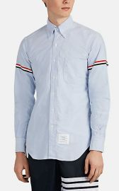 Tricolor-Band Cotton Oxford Cloth Button-Down Shirt at Barneys