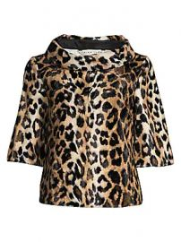 Trina Turk - Kailee Leopard-Print Faux-Fur Top at Saks Fifth Avenue