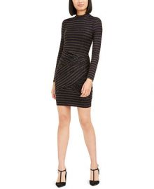 Trina Turk Golden Metallic-Stripe Bodycon Dress   Reviews - Dresses - Women - Macy s at Macys