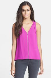 Trina Turk and39Banningand39 Front Zip Top at Nordstrom