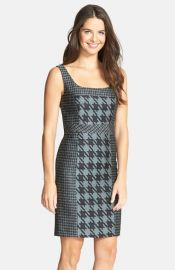 Trina Turk and39Elissaand39 Woven Houndstooth Sheath Dress at Nordstrom