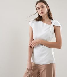 Trinny Twist Sleeve Detail Top by Reiss at Reiss