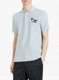 Triple Archive Logo Cotton Piqué Polo Shirt at Farfetch