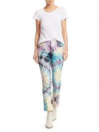 Tripper High Rise Tie-Dye Cropped Jeans at Saks Fifth Avenue