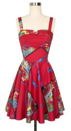 Trixie Dress in Red Fans at Trashy Diva