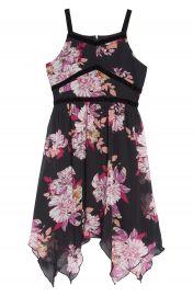 Trixxi Floral Print Handkerchief Hem Dress  Big Girls    Nordstrom at Nordstrom
