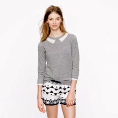 Trompe L Oeil Sweater in grey at J. Crew