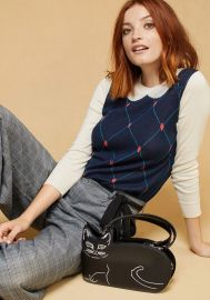 Trompe l\'Oeil Collared Sweater by Modcloth at Modcloth