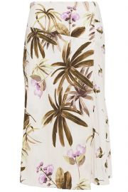 Tropical Garden Midi Skirt by Vince at The Outnet