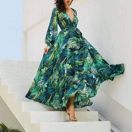 Tropical Print Vintage Maxi Dress at Sonja