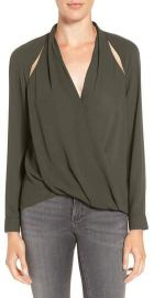 Trouv   Cutout Surplice Top at Nordstrom