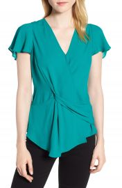 Trouv   Knot Front Blouse at Nordstrom