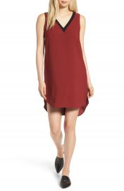 Trouv   Rib Detail Shift Dress at Nordstrom