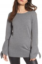 Trouv   Tie Sleeve Sweater at Nordstrom