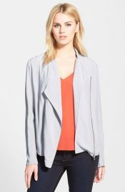 Trouvand233 Draped Moto Jacket in Grey at Nordstrom