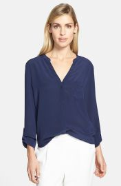 Trouvand233 Silk Blouse in Navy at Nordstrom