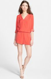 Trouvand233 Surplice Romper in Red at Nordstrom