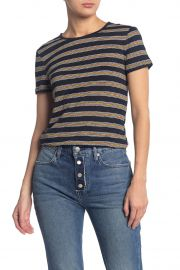 True Stripe Knit T-Shirt by Frame at Nordstrom Rack
