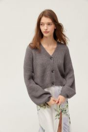 Truly Madly Deeply Piper Slouchy Balloon Sleeve Cardigan at Urban Outfitters