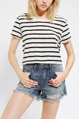 Truly Madly Deeply Striped Super-Cropped Tee at Urban Outfitters