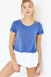 Truly Madly Deeply Sunset Cropped Top in blue at Urban Outfitters