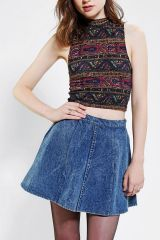 Truly Madly Deeply printed crop top at Urban Outfitters