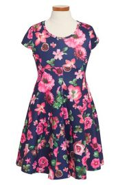 Truly Me Floral Print Dress at Nordstrom