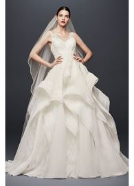 Truly Zac Posen Horsehair Tier Skirt Wedding Dress at Davids Bridal