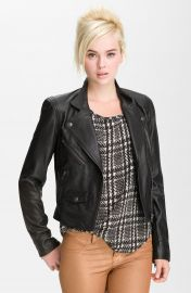 Truth and Pride Perforated Leather Biker Jacket at Nordstrom