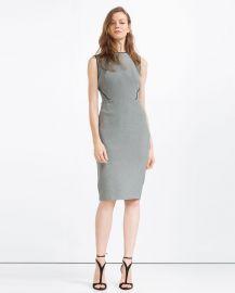 Tube dress with piping at Zara