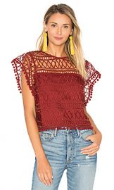 Tularosa Clayton Lace Top in Clay from Revolve com at Revolve