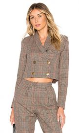 Tularosa Kendra Jacket in Classic Brown Plaid from Revolve com at Revolve
