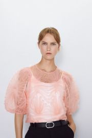 Tulle Ruffle Top by Zara at Zara